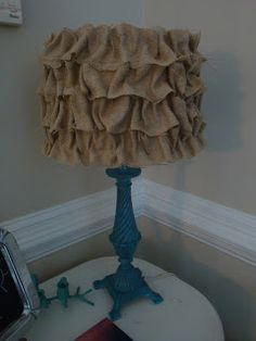 DIY: A Little Piece of Heaven: No Sew Ruffled Burlap Lampshade Tutorial