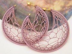 Crochet earring hoop pattern