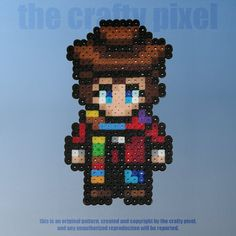 Doctor Who: 4th Doctor Perler Bead Sprite by thecraftypixel