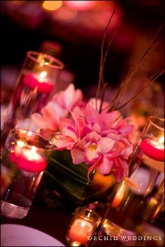 Gorgeous pink wedding centerpiece