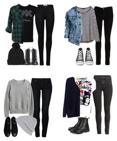 """MORE BTS Outfits - Michael"" by fivesecondsofinspiration ❤ liked on Polyvore featuring ONLY, Topshop, Jessica Simpson, H&M, Boohoo, Converse, American Vintage, Bik Bok, even&odd and River Island"