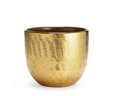 Textured Gold Large Cachepot - Aerin