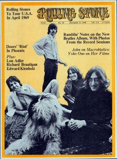 The Beatles on the cover of Rolling Stone, December 1968.
