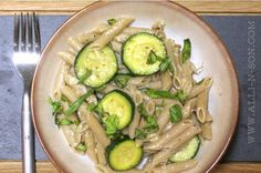 Penne with Zucchini, Basil and Garlic Olive Oil