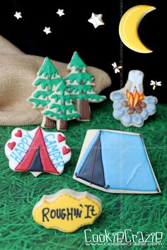 CookieCrazie: Happy Camper: Tent Cookies (Tutorial)