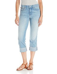 NYDJ Womens Dayla Wide Cuff Capri Jeans with Selvedge Trim Manhattan Beach 2 -- Details can be found by clicking on the image.