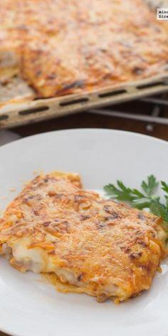 La receta de canelones de mi abuela Meat Recipes, Mexican Food Recipes, Italian Recipes, Real Food Recipes, Vegetarian Recipes, Cooking Recipes, Yummy Food, Risotto Recipes, Pasta Recipes