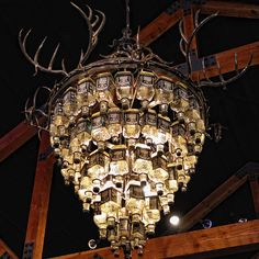 Now I know what to do with all my empties...Jack Daniels chandelier