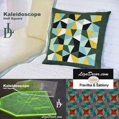 Kaleidoscope Half Square - Kaleidoskop z půlených čtverců.
