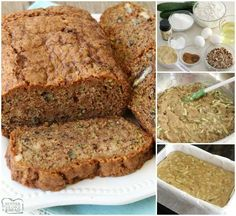Zucchini Bread that truly is the best ever! Easy to make & you'll love the blend of spices used. Popular for a reason, it's the perfect zucchini bread recipe! Butter With A Side of Bread Canned Zucchini, Easy Zucchini Bread, Zucchini Cookies, Best Zucchini Recipes, Quick Bread Recipes, Baking Recipes, Grilled Zucchini, Zucchini Bars, Grilled Pizza