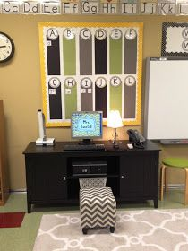 I like a piece of furniture to the left of the smart pard for document camera, etc.. Tunstall's Teaching Tidbits: Classroom Tour 2012-2013