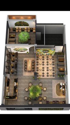 QUỲNH COFFEE - BẮC GIANG Cafe Floor Plan, Restaurant Floor Plan, Restaurant Layout, Deco Restaurant, Cafe Shop Design, Coffee Shop Interior Design, Restaurant Interior Design, Office Interior Design, Bistro Interior