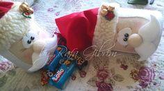 https://flic.kr/p/Q1iXiS | Lata enfeitada de Papai Noel (reutilizando latas) | Mais um produto que surgiu através da reutilização de embalagens que iriam para o lixo, nesse caso, uma lata. Quem já ganhou, AMOU!!  É um belo presente, e dentro pode-se colocar diversas gostosuras como, por exemplo, chocolates e biscoitinhos. Encomendado por Auriane - São Paulo/SP