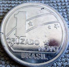 Cruzado e Cruzado Novo 1987 /88 /89 World Coins, Coin Collecting, Bronze, Nostalgia, Internet, Vintage, Pink, Value Of Old Coins, Rare Coins