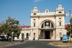 Szombathely station - exterior view (Hungary), 2013. Photo: Lou Johnson.