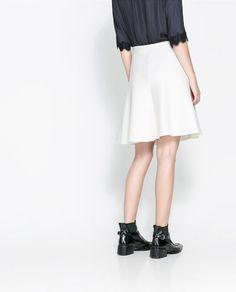 White skirt #byzara