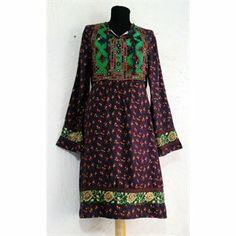 Afgan Model Elbise - Yeşil