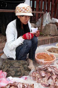 Street Market of Luang Prabang, Laos