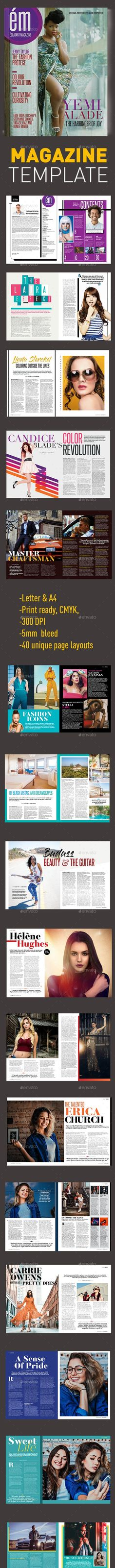 This is a clean and professionally designed 40 page magazine template in both and Letter sizes. Easy to replace images and text. Perfect for a wide array of uses such as: fashion, Women, men, Sports, Interiors Wonder Woman Logo, Company Profile, Magazine Template, Letter Size, Logo Templates, Lettering, A4, Vacations, Fashion Women