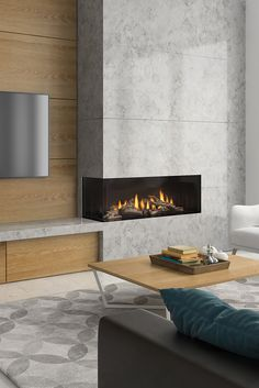 Regency City Series™ Chicago Corner - Modern fireplaces with no limitatio. Regency City Series™ Chicago Corner - Modern fireplaces with no limitatio. Regency City Series™ Chicago Corner - Modern fireplaces with no limitations. Modern Fireplace Decor, Living Room Decor Fireplace, Contemporary Fireplace Designs, Living Room Tv, Modern Fireplaces, Indoor Fireplaces, Gas Fireplaces, Corner Gas Fireplace, Concrete Fireplace