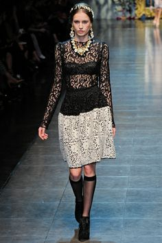 Dolce & Gabbana Fall 2012 Ready-to-Wear Collection on Style.com: Runway Review