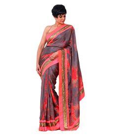 Mandira Bedi Gray Silk Saree, http://www.snapdeal.com/product/mandira-bedi-gray-silk-saree/656344126155