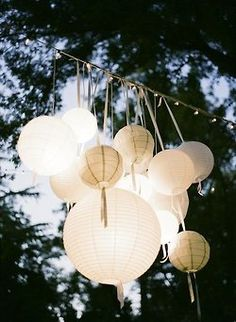 Lighting! these and little light everywhere hanging from the trees