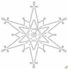 15 crochet snowflakes patterns- free patterns – Turcoaz cu Vanilie - Her Crochet Crochet Snowflake Pattern, Crochet Stars, Crochet Motifs, Christmas Crochet Patterns, Crochet Snowflakes, Crochet Diagram, Christmas Snowflakes, Thread Crochet, Filet Crochet