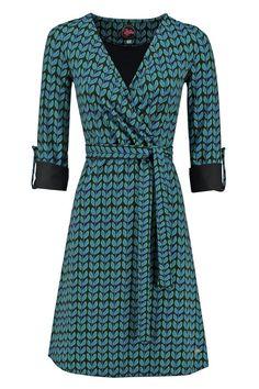 crossover print dress -Tante Betsy.com