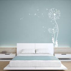 Amazon.com: GECKOO Nursery Girl Room Wall Decal Dandelion Flower Art Sticker Home Decor (X-Large,White): Home & Kitchen