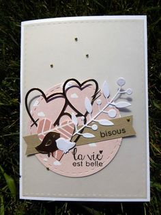 c'était hier ! – Le scrap d'Isa et Mamily – Best Pins Live Pretty Cards, Love Cards, Mini Scrapbook Albums, Scrapbook Cards, Wedding Greetings, Valentine Day Cards, Valentine Sday, Anniversary Cards, Greeting Cards Handmade