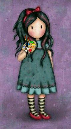 pulling on yout heart strings Gorjuss Cute Images, Cute Pictures, Digi Stamps, Cute Cartoon, Cute Drawings, Cute Art, Paper Dolls, Painted Rocks, Watercolor Art