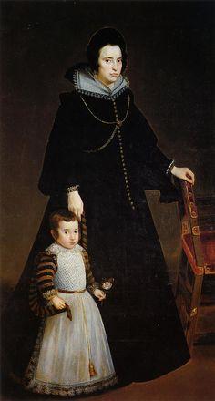 """Diego Rodriguez de Silva Velazquez 1599-1660 SPAIN """" Doña Antonia de Ipeñarrieta y su hijo"""" The Prado Museum. Madrid"""