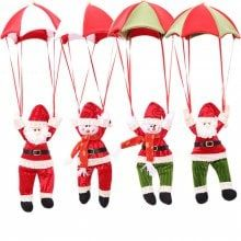 Christmas Santa Claus Parachute Tree Hanging Decoration