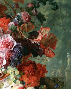 jaded-mandarin: Jan van Huysum. Detail from Fruit and Flowers,...