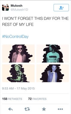If there were a One Direction history book, this day would deserve its own chapter! #NoControlDay
