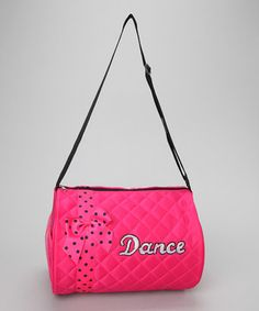 This Pink Bow 'Dance' Duffel Bag by Seesaws & Slides is perfect! #zulilyfinds