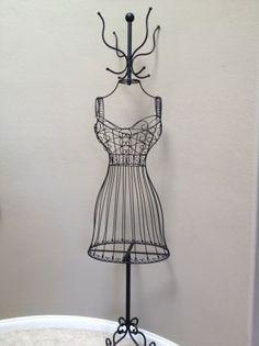 French inspired Metal Dress Form rack coat hanger