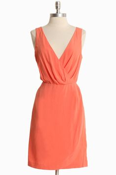 Such a perfect shape and colour.  Alysia Peach Woven Dress By BB Dakota | Modern Vintage Dresses