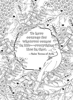 Lovely Coloring Page And Quotes From The Book Creative Haven Deluxe Edition Artful 5 Free Examples To Try For Sale At Dover