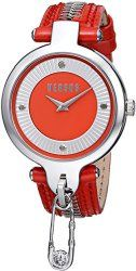 Versus by Versace Women's SOB040014 KEY BISCAYNE Analog Display Quartz Red Watch