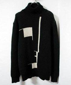 Raf Simmons Bauhaus knit sweater