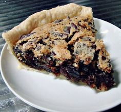 In this #ChocolateChip #Pie you can either use #BlackWalnuts or chopped #Pecans.