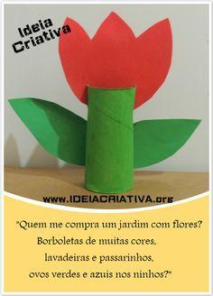 Ideia Criativa - Gi Barbosa Educação Infantil: Atividade Reciclagem Flor de Rolo de Papel Projeto... Art For Kids, Crafts For Kids, Arts And Crafts, Paper Crafts, Diy Crafts, Spring Activities, Art School, Birthday Gifts, Homeschool
