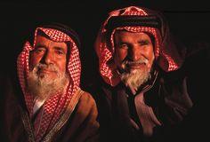 Elders of the Al Amrah clan of the Al Murrah bedouin tribe, Saudi Arabia.
