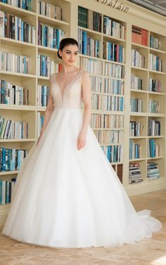 Glam wedding gown with fully beaded bodice and sparkle tulle skirt! Sizes 00 to Bridal Dresses, Wedding Gowns, Tulle Dress, Special Day, One Shoulder Wedding Dress, Bodice, Bridesmaid, Lace, How To Wear