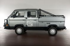 This 1988 Volkswagen T3 Double Cab TriStar has a 110-hp rear-mounted, water-cooled boxer e...