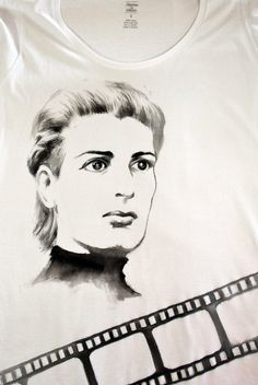 "Stella t-shirt Handpainted cotton t-shirt Inspired by ""Stella"" the film by Michael Cacoyannis #movies #film #b #drama #cotton #tshirt #handmade order yours by email at info@stories2wear.com"