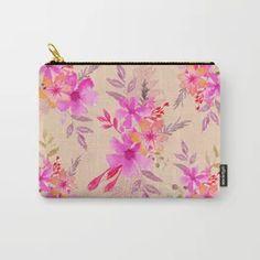 Bouquet of flowers - light pink Carry-All Pouch Tech Accessories, Bouquet, Pouch, Wall Art, Flowers, Pink, Bags, Design, Handbags