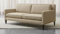 Rochelle Apartment Sofa - Desert | Crate and Barrel SMOKE